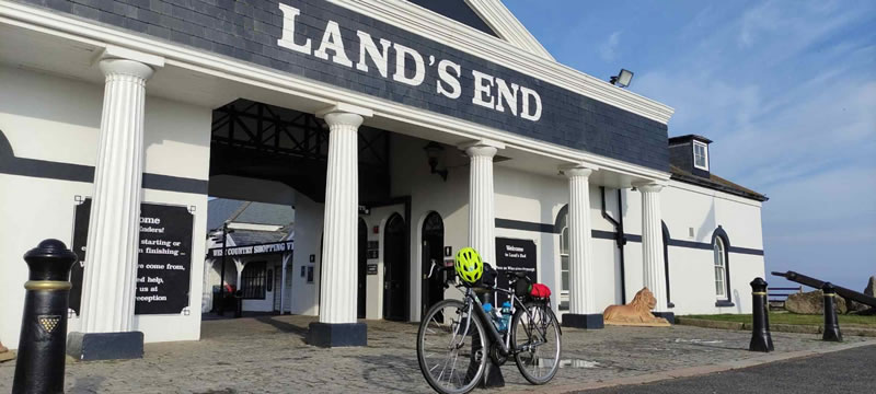 Clare's bike at Land's End